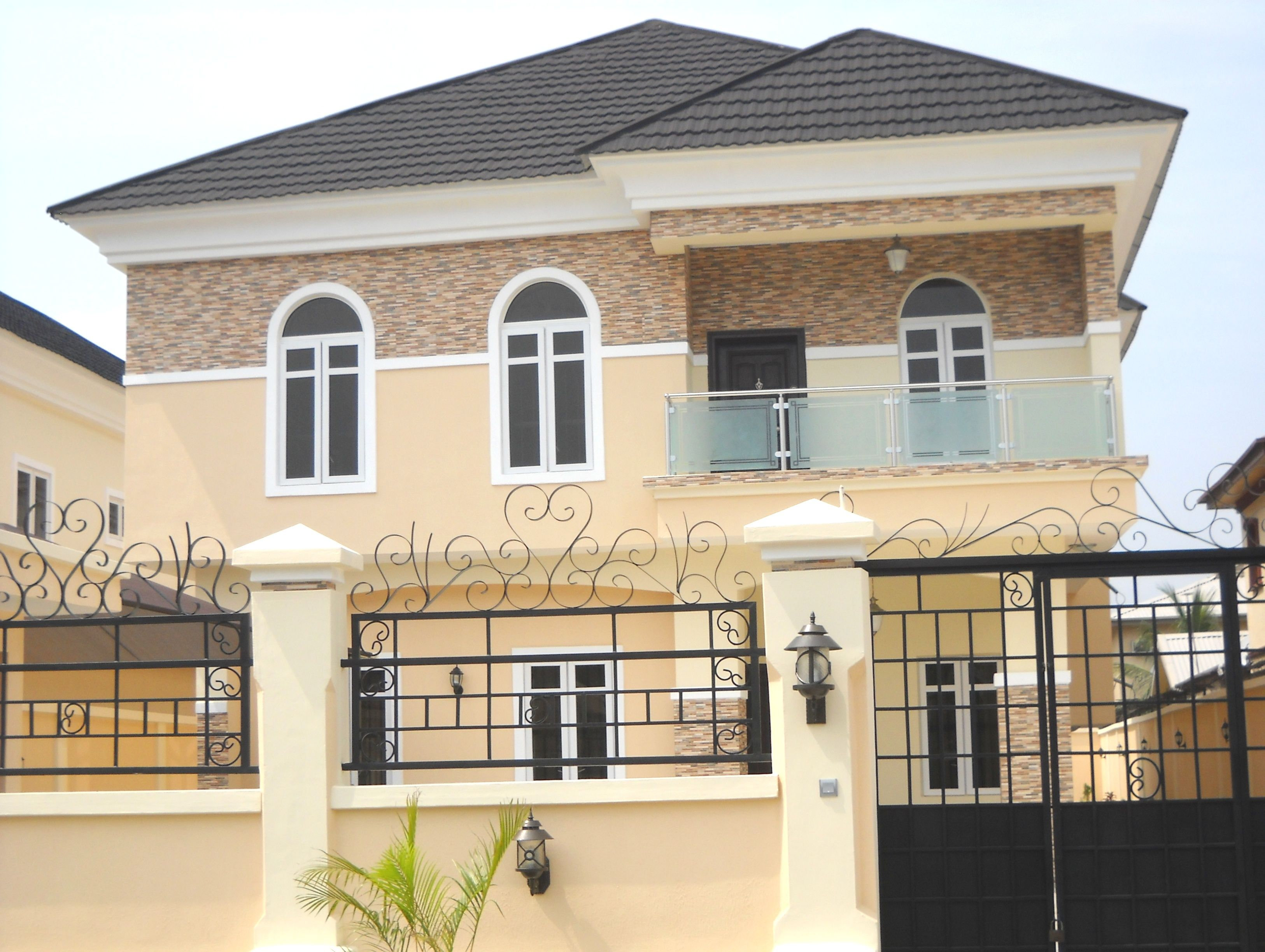 Own beautiful houses in Nigeria - village, Lagos (island/lekki ... on landscape idea for the front of your house, front walkways to house, frontrunners landscape designs house, landscaping near house,