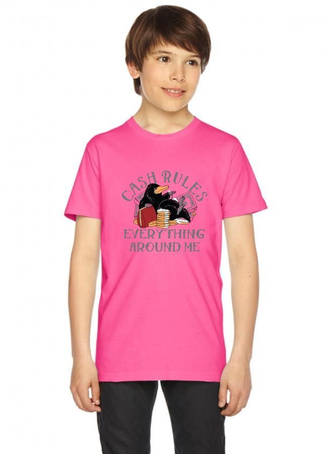 cash rules everything around me funny Youth Tee