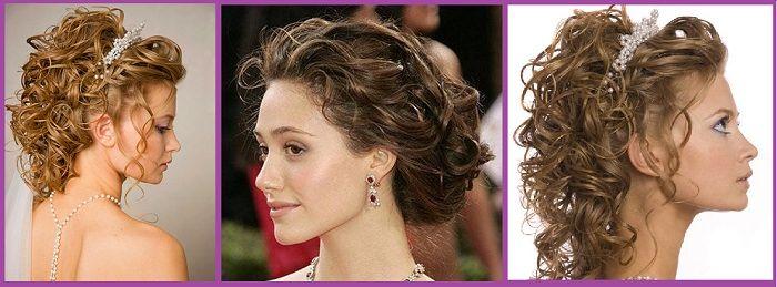 Peinados recogidos para pelo rizado de mujer si buscas - Peinados de fiesta media melena ...