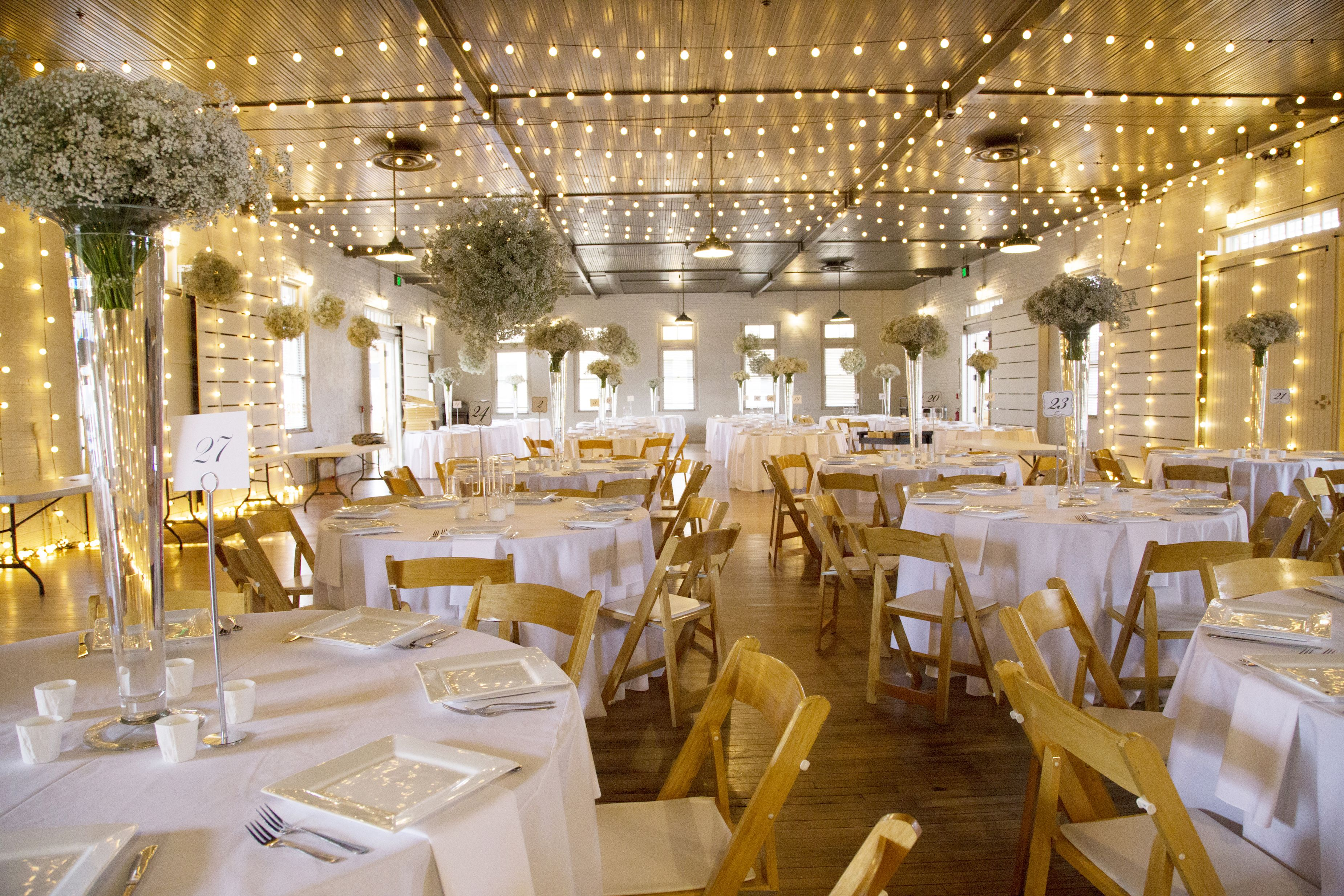 Wedding venue decoration images  Reception Space for an all white wedding in MT Design and Decor