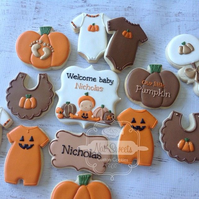 Halloween Themed Baby Shower Cookies.Halloween Themed Baby Shower Cookies Cookie Inspiration Baby In