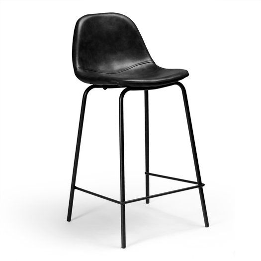 Adelina Bar Counter Stool Leather Bar Stools Leather