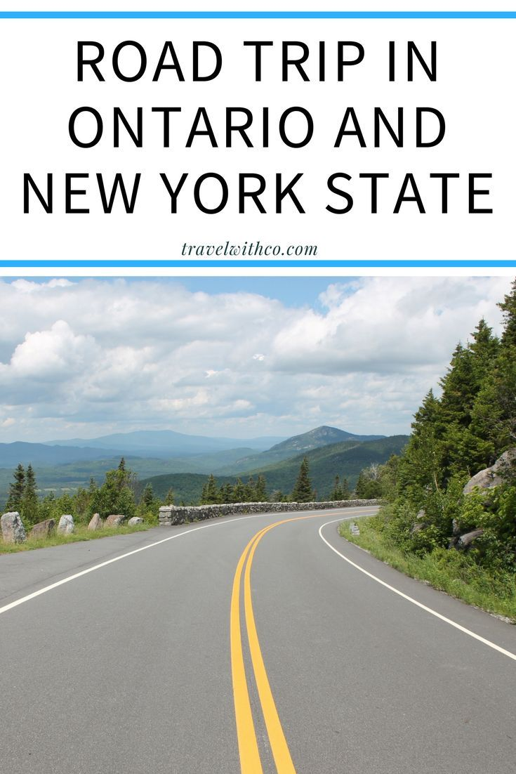 Great itinerary for a road trip in Ontario and New York