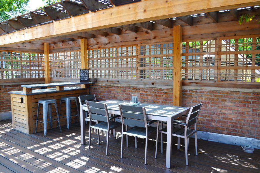 Decking Garage Roof Deck Concrete Counters Pergola Outdoor