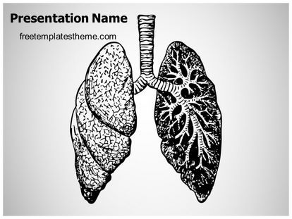 get this #free #lungs #disease #powerpoint #template with, Powerpoint templates