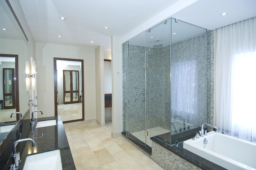 Mosaico bagno u idee per rivestire con stile bagni moderni e