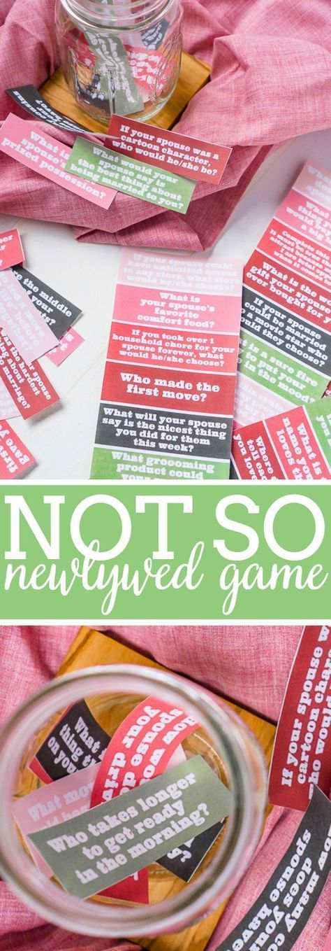 The Not So Newlywed Game with FREE Questions Couples