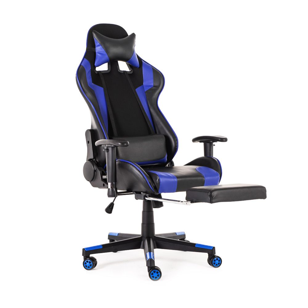 Racing Style Gaming Chair 90 180 Reclining Ergonomic High Back Leather Chair With Footrest Office Or Gaming Chair Walmart Com High Back Office Chair Leather Chair Gaming Chair