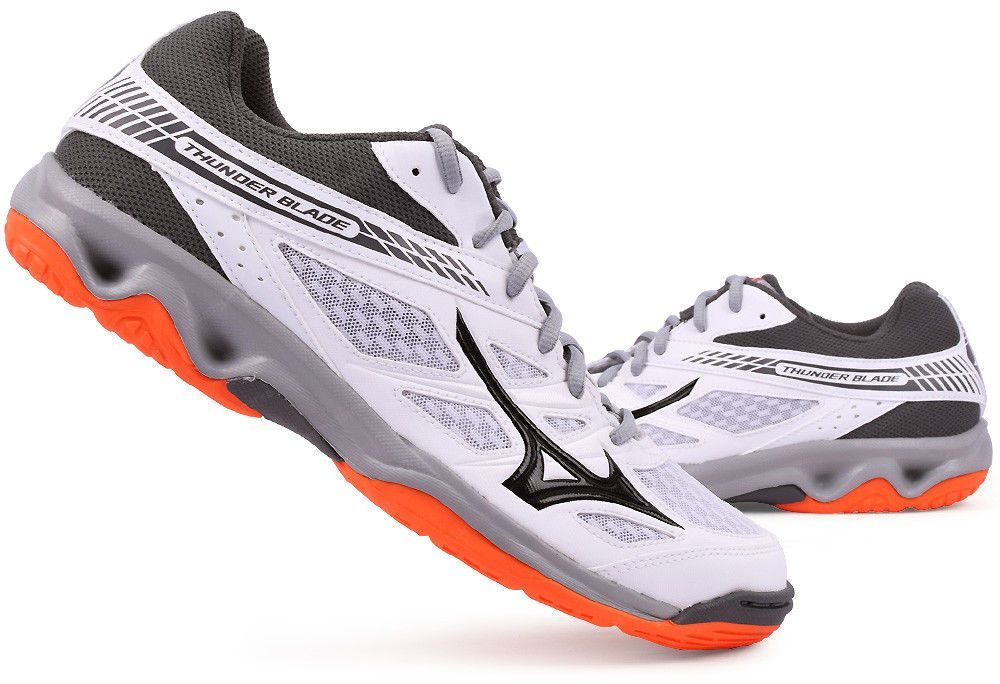 ee344070c8081 Mizuno Thunder Blade Indoor Shoes Unisex White Gray Badminton Shoes  V1GA177054 #Mizuno