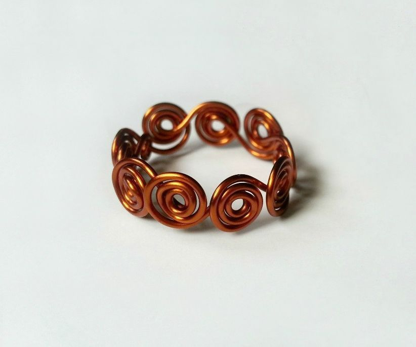 DIY Swirl Wrapped Wire Ring   Pinterest   Ring, Wraps and Ring tutorial