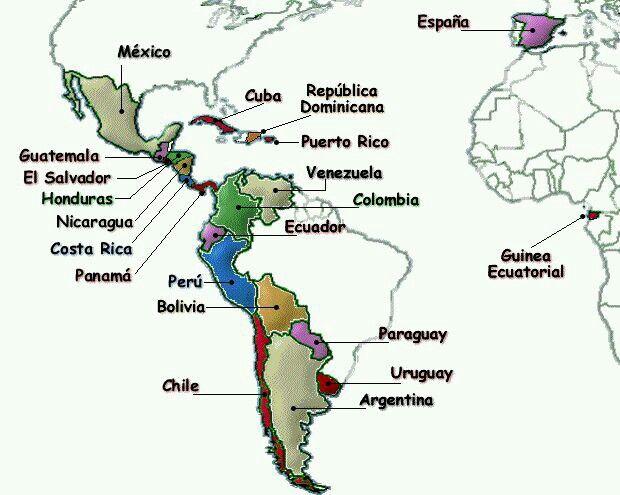 Mundo Intercultural Países Y Nacionalidades En Español: Lengua Española