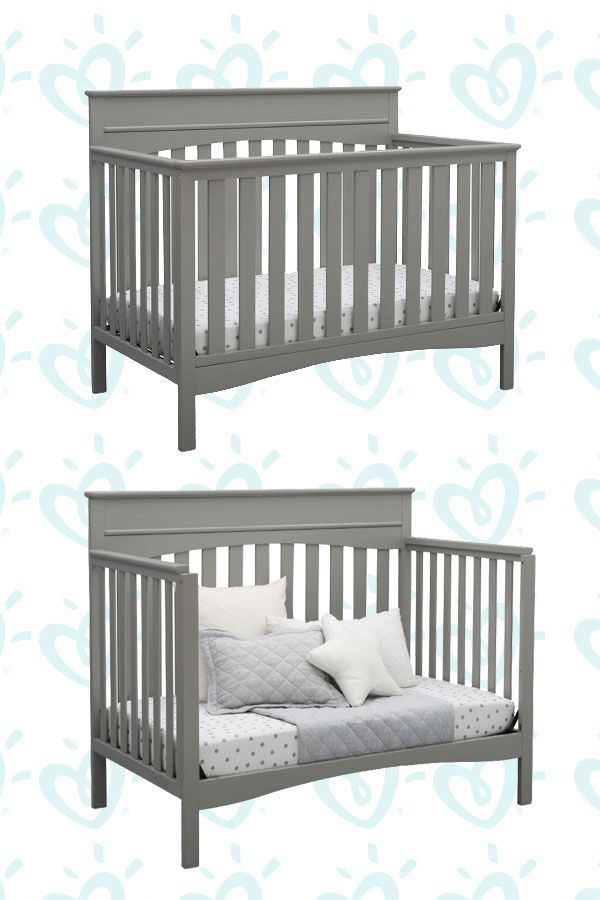 Delta Children Skylar 4-in-1 Convertible Crib - Gray images