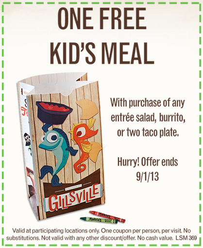 Rubio S Reminder Coupon For Free Kid S Meal Expires Sunday