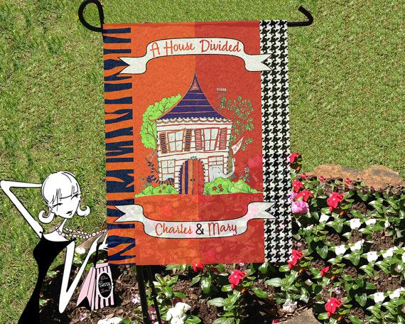 Attirant House Divided Flag Alabama Auburn House Divided By Onesassysister