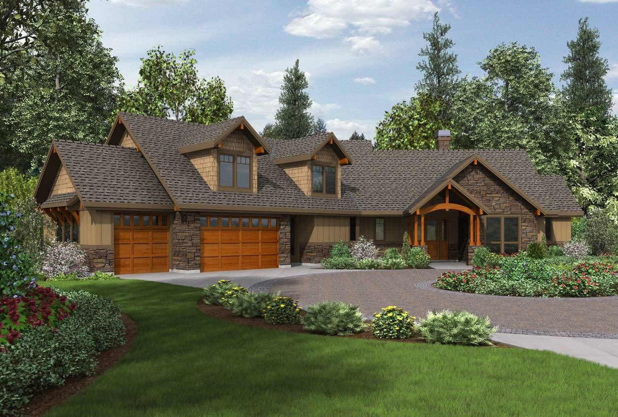 Mascord plan 22190 the silverton house plans for Single story ranch style homes