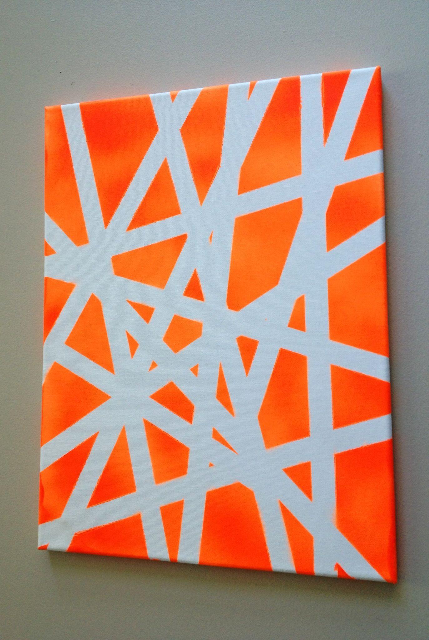 Tape Spray Paint Art Spray Paint Art Spray Paint Artwork Stencil Painting