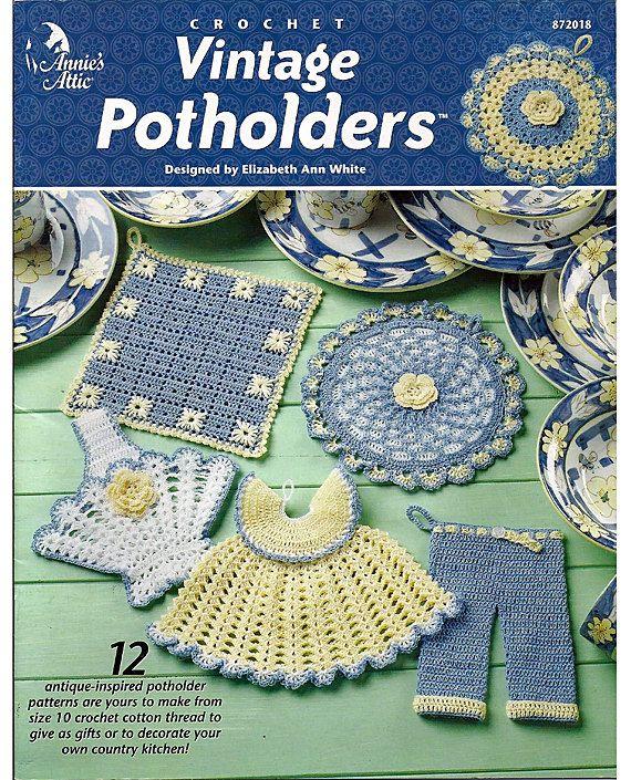 Vintage Potholders Crochet Pattern Annies Attic 872018 | Pinterest ...