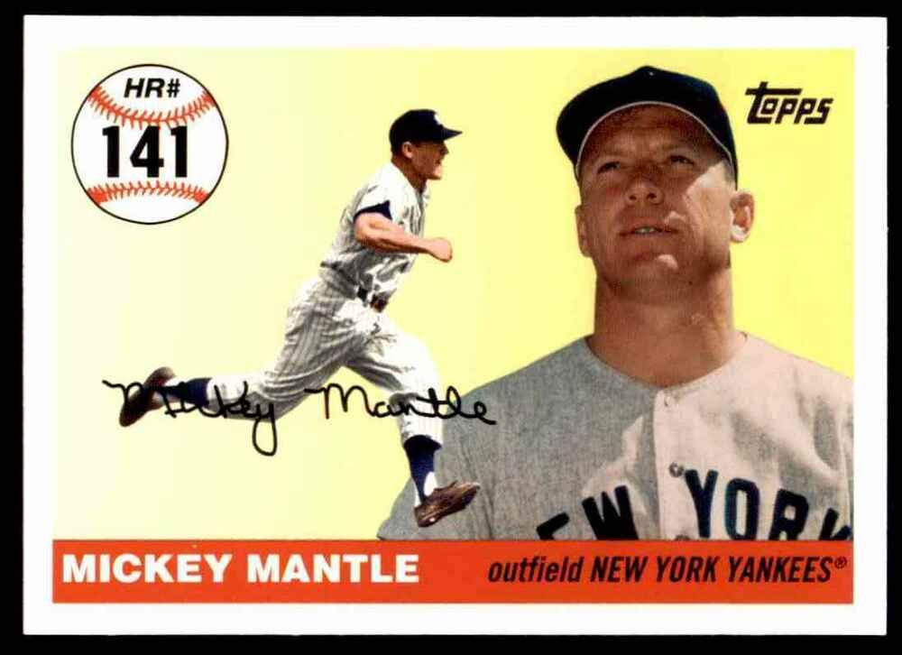 Mickey Mantle 2006 Topps Rookie Of The Week Baseball Card Baseball Cards Mickey Mantle Baseball