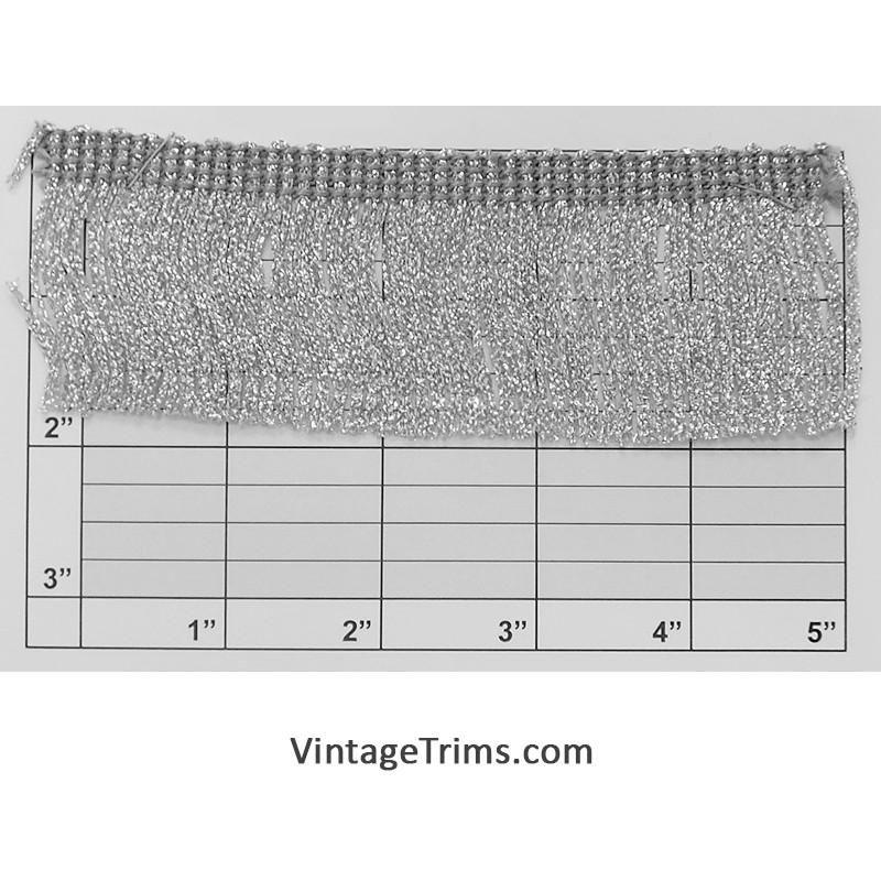 "Metallic Chainette Fringe 1-7/8"" (Per Yard) 2 Colors"