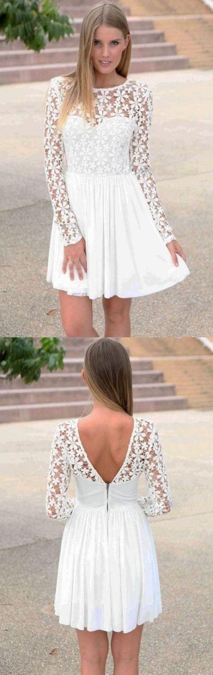 Dress white graduation sleeve simple 39+ ideas