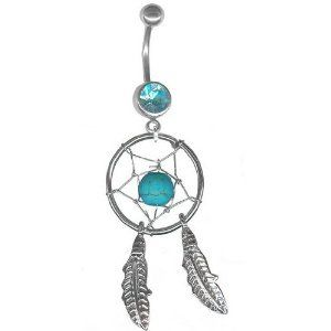 Dream Catcher Belly Button Rings Belly Button Ring Looovvve It  Belly Button Rings  Pinterest