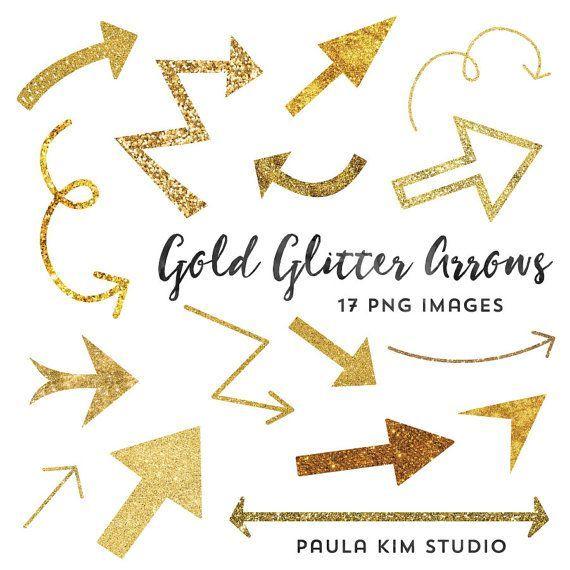 Gold Glitter Arrow Clip Art Instant Download Arrow Clipart Etsy Clip Art Freebies Free Clip Art Clip Art