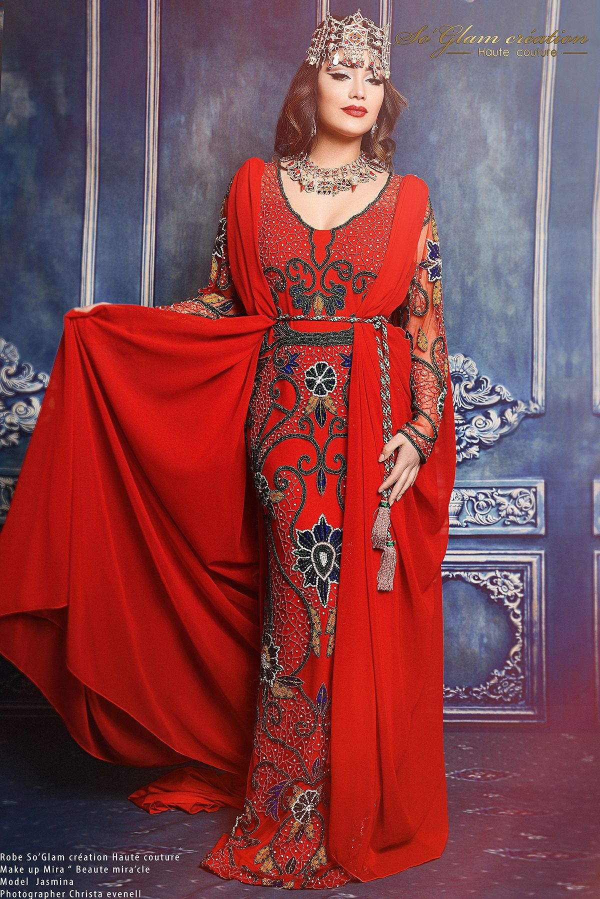 Connu Caftans et robes en locations | So Glam Création Haute  YR43