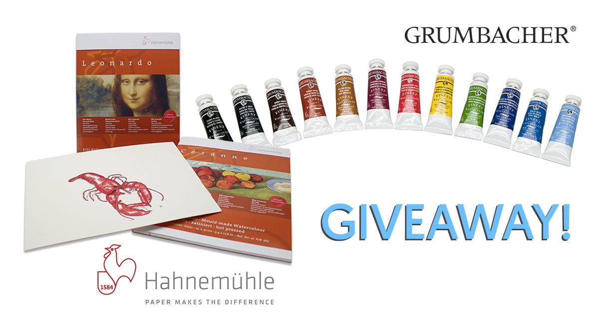 Giveaway Win Hahnemuhle Paper And 12 Tubes Of Grumbacher