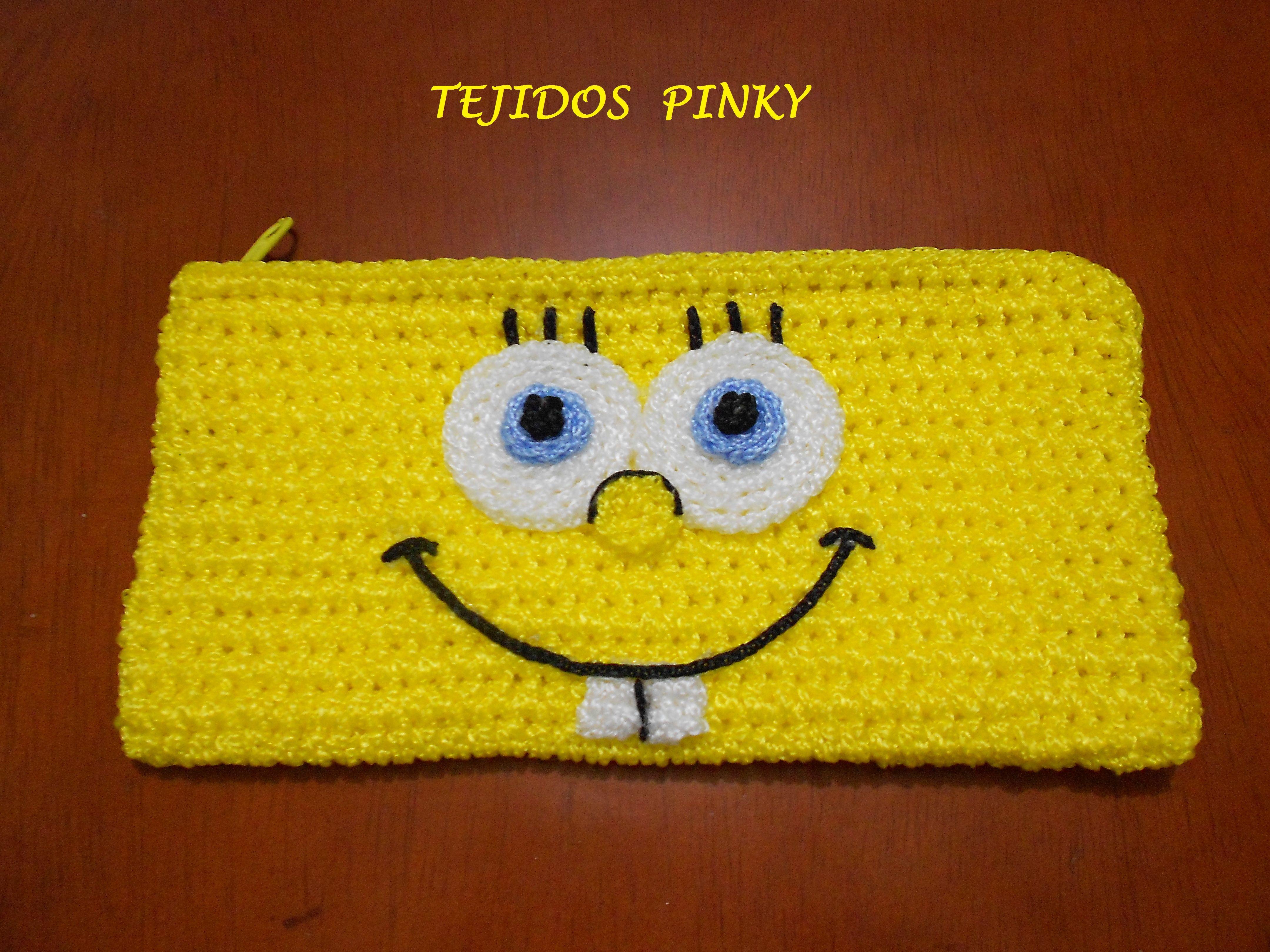 cartuchera de bob esponja ...   tejidos   Pinterest   Crochet ...