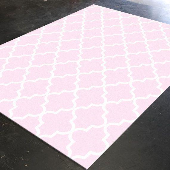 Trellis Rug, Pink Decor, Pink Rug, Light Pink Decor, Light Pink Rug