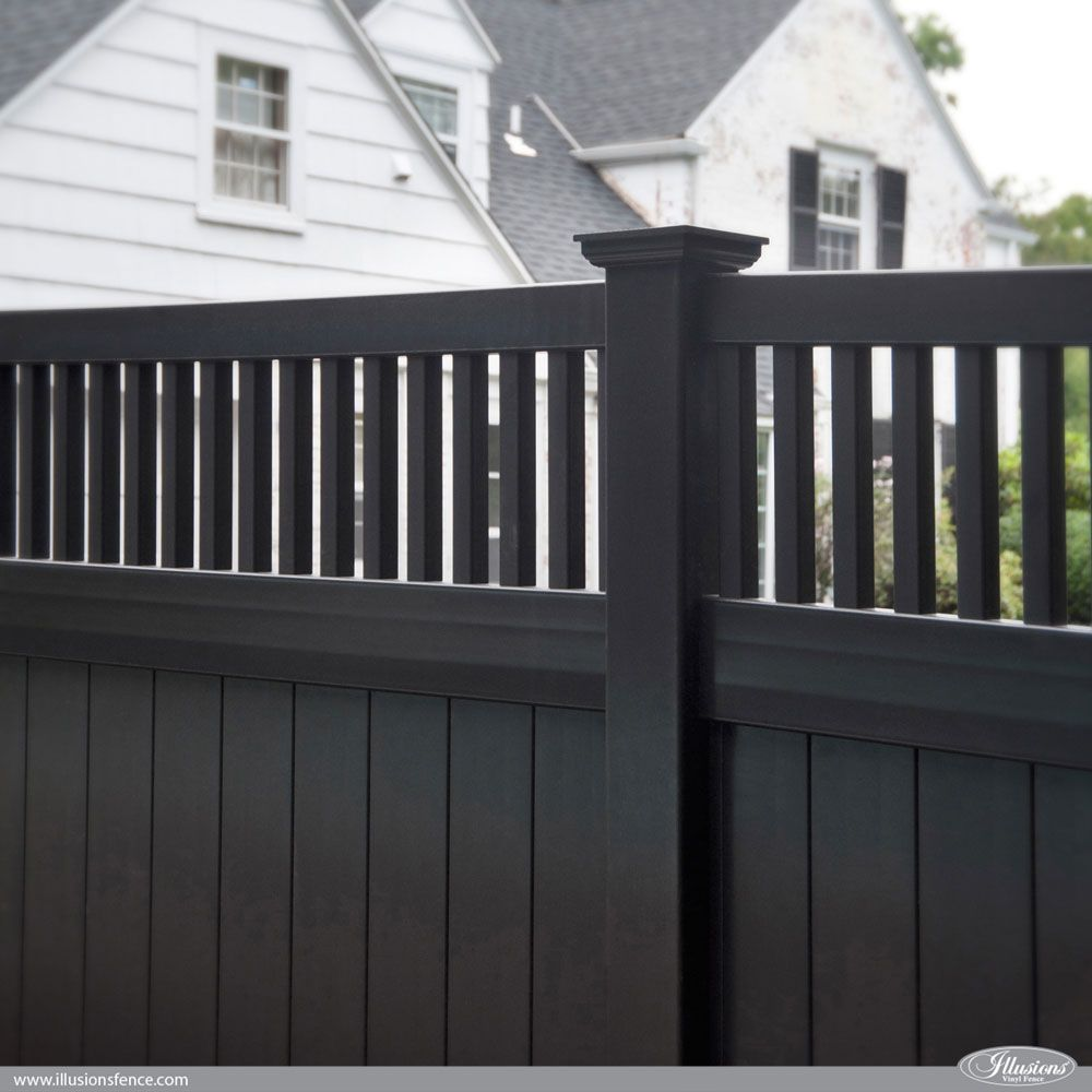 vinyl fence ideas. Great Fence Idea. Awesome Black PVC Vinyl Privacy Panels From Illusions Fence. Style V3701-6L105. #fenceideas Ideas V
