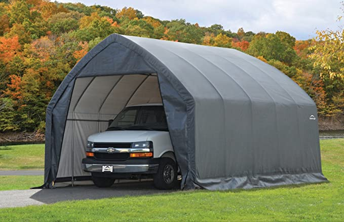 Amazon Com Shelterlogic Garage In A Box Suv Truck Shelter Grey 13 X 20 X 12 Ft Sports Outdoors In 2020