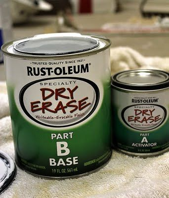 Dry Erase Board Paint --  NO FRIGGIN' WAY!!! I have to find this!