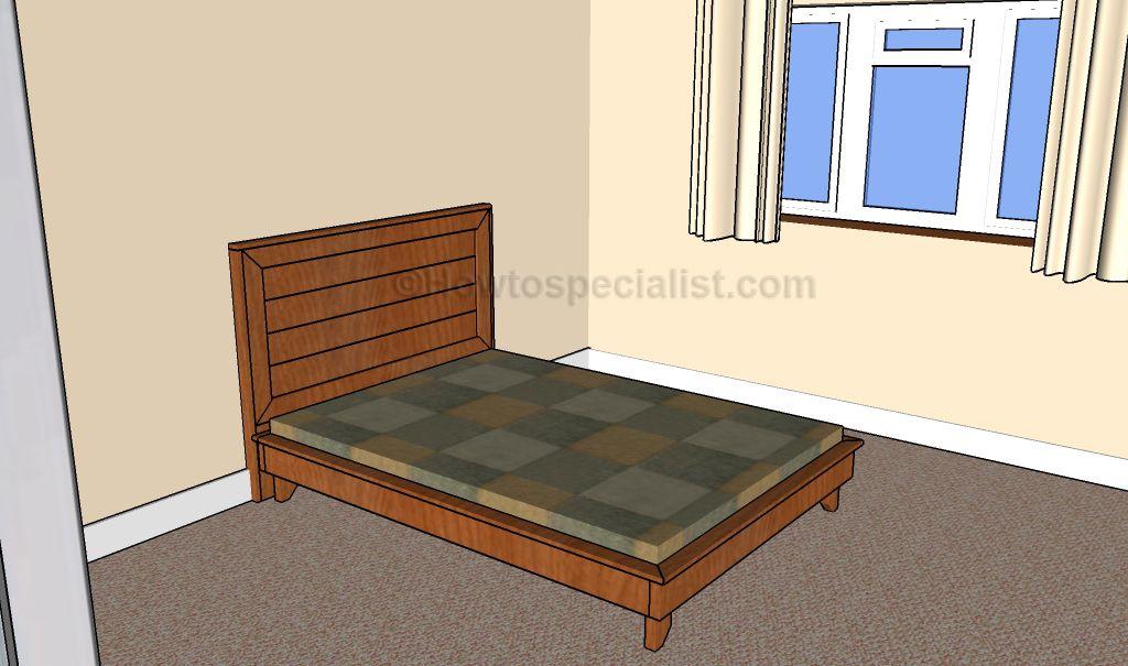Full size platform bed frame plans | Furniture | Pinterest