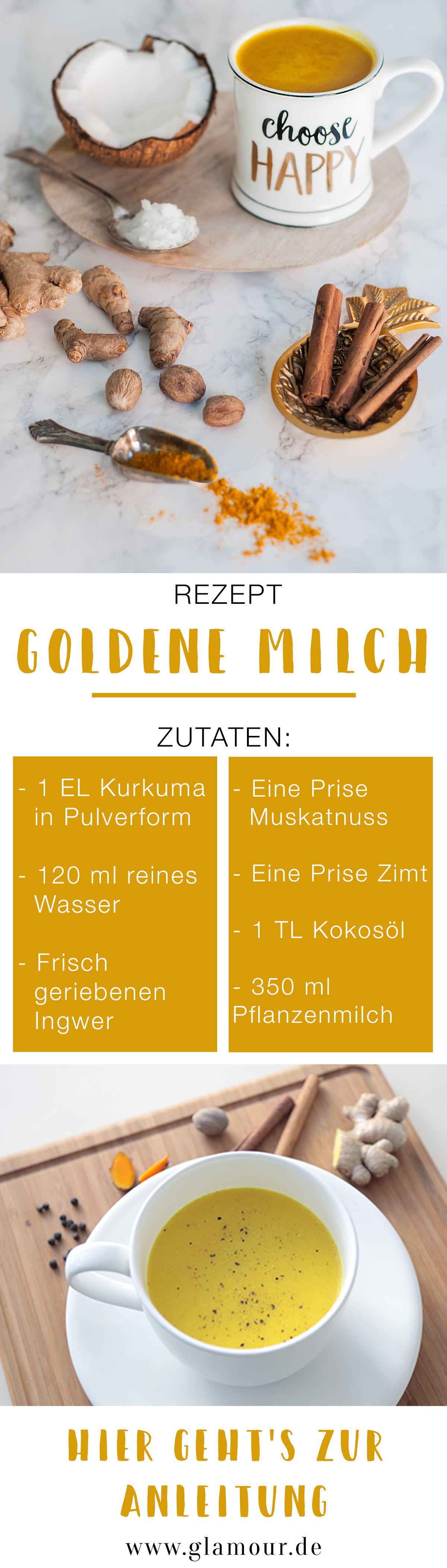 Goldene Milch Schnelles Rezept Und Wirkung Des Kurkuma Latte Rezepte Goldene Milch Rezept Goldene Milch