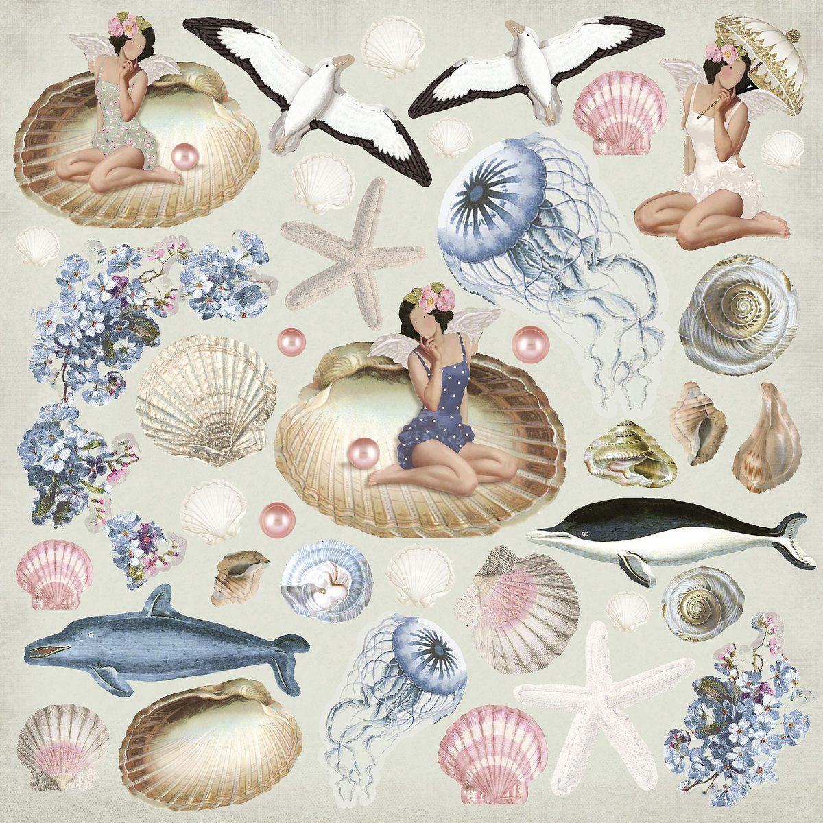Скрапбукинг морские картинки