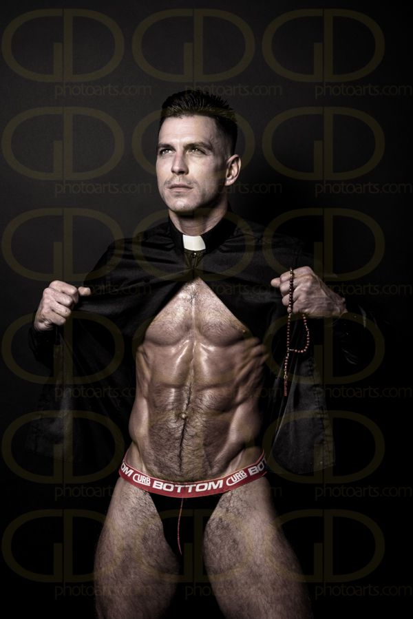Sexy gay priest