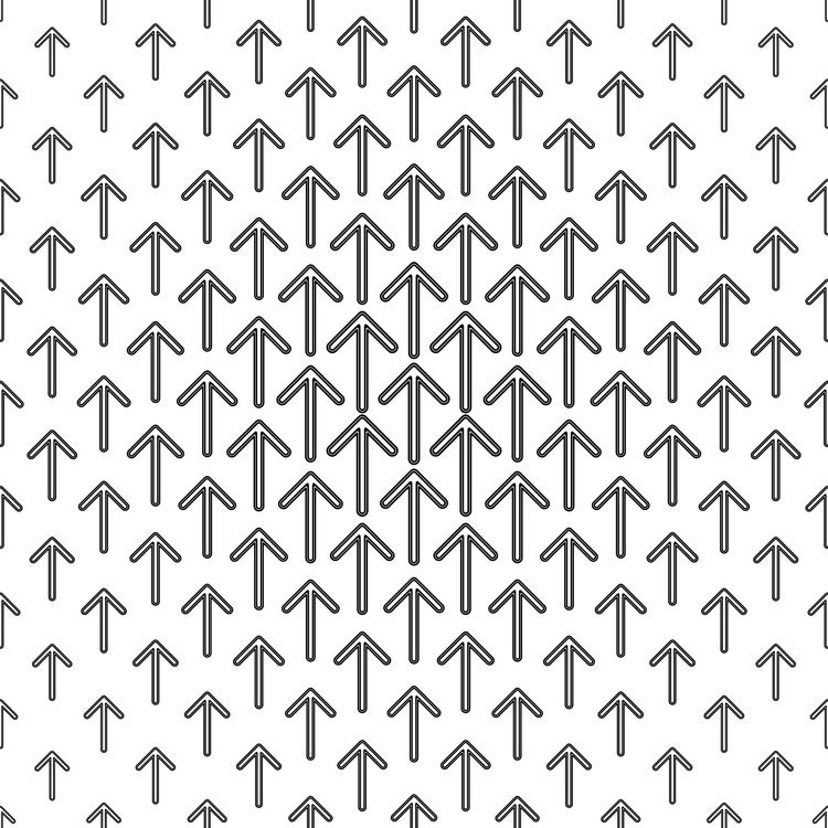 Monochrome arrow repeat pattern Repeating patterns