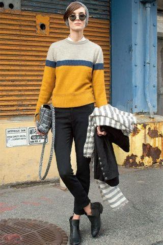 Street Style - Garçonne-Stil: Herrlich weiblich | annabelle (Foto: Imaxtree / Redaktion: Leonie Kurz)