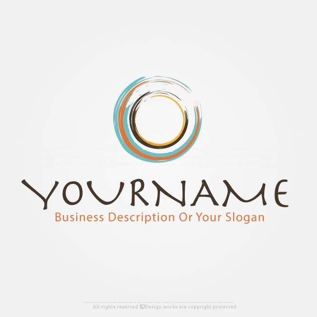 Online Logo Maker Free Art Brush Circle Logo Design Great