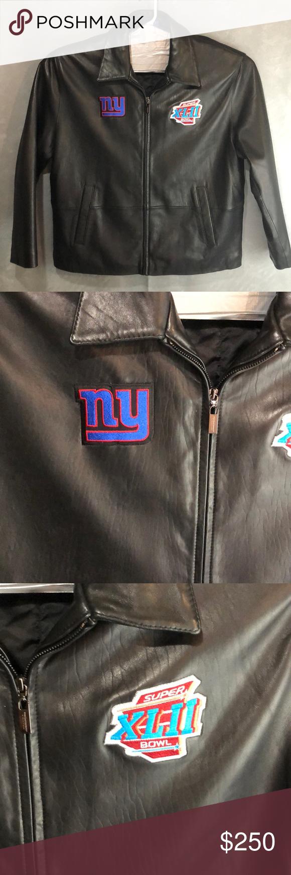 quality design df927 98db4 New York NY Giants Leather Jacket NFL New York Giants Super ...