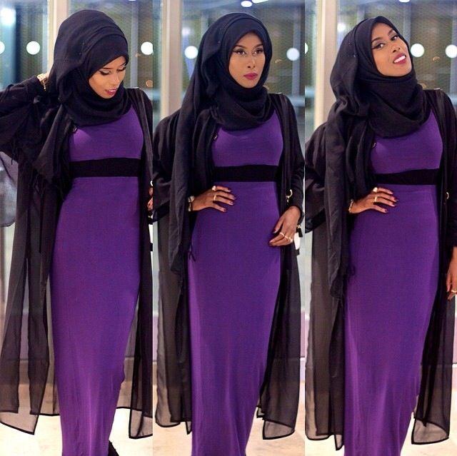 basma k purple dress hijab style pinterest purple