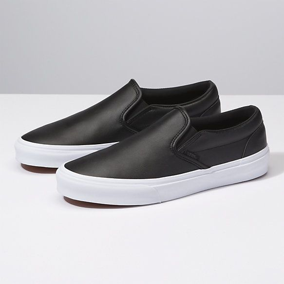 Leather slip on shoes