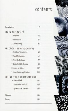 Cool Idea For Table Of Contents Layout Description From Pinterest