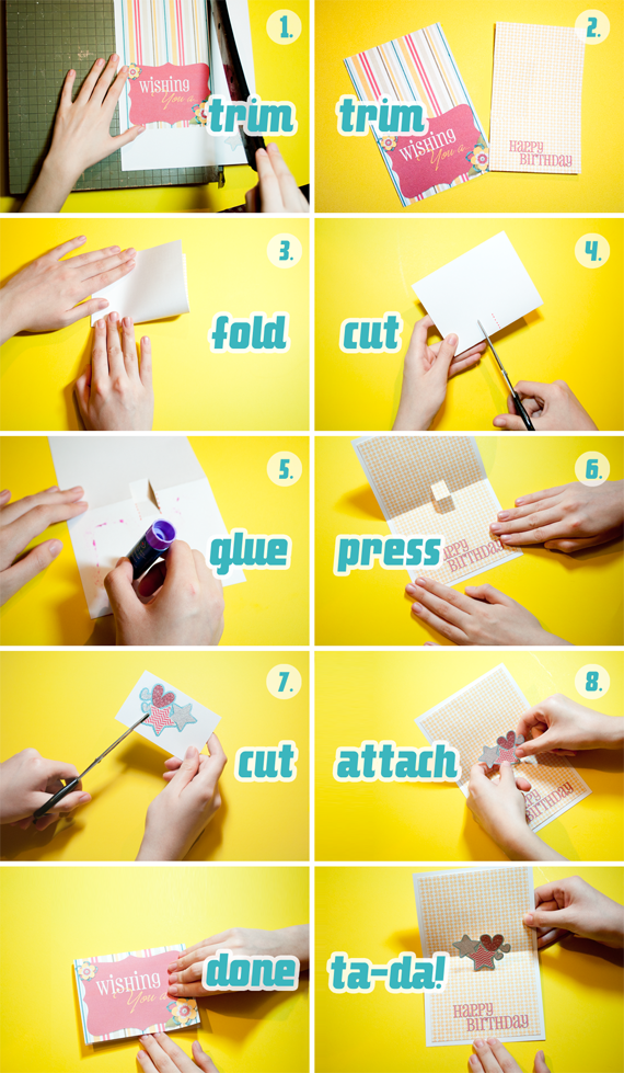 how to make pop up cards step by step