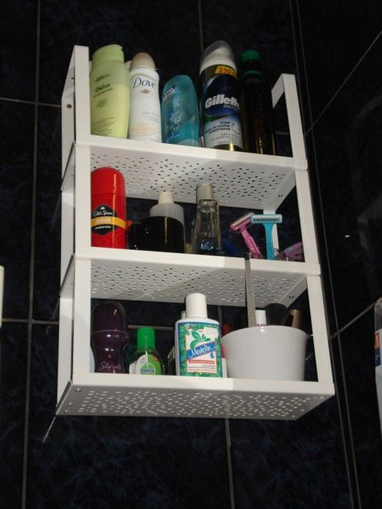Escape The Bathroom Hacked variera shelf insert to bathroom shelving | diy | ikea hacks