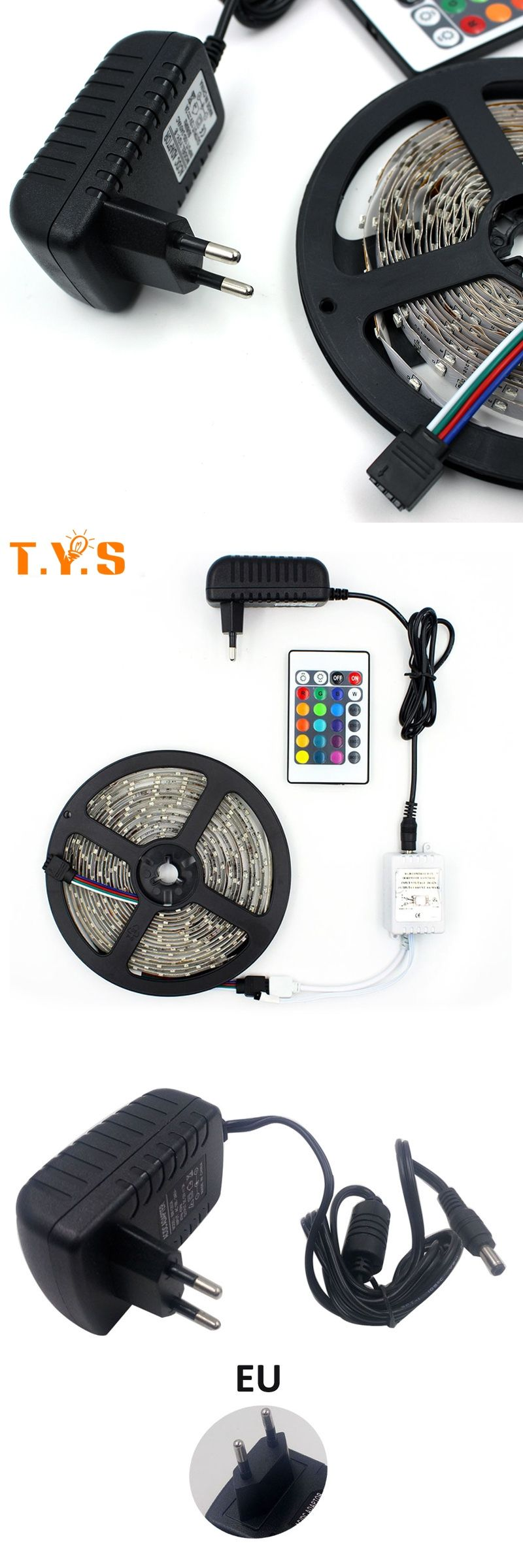 Adapter Led Verlichting Rgb Led 2835 Smd Strip Tv Background Tape 5m Rgb Set With Power