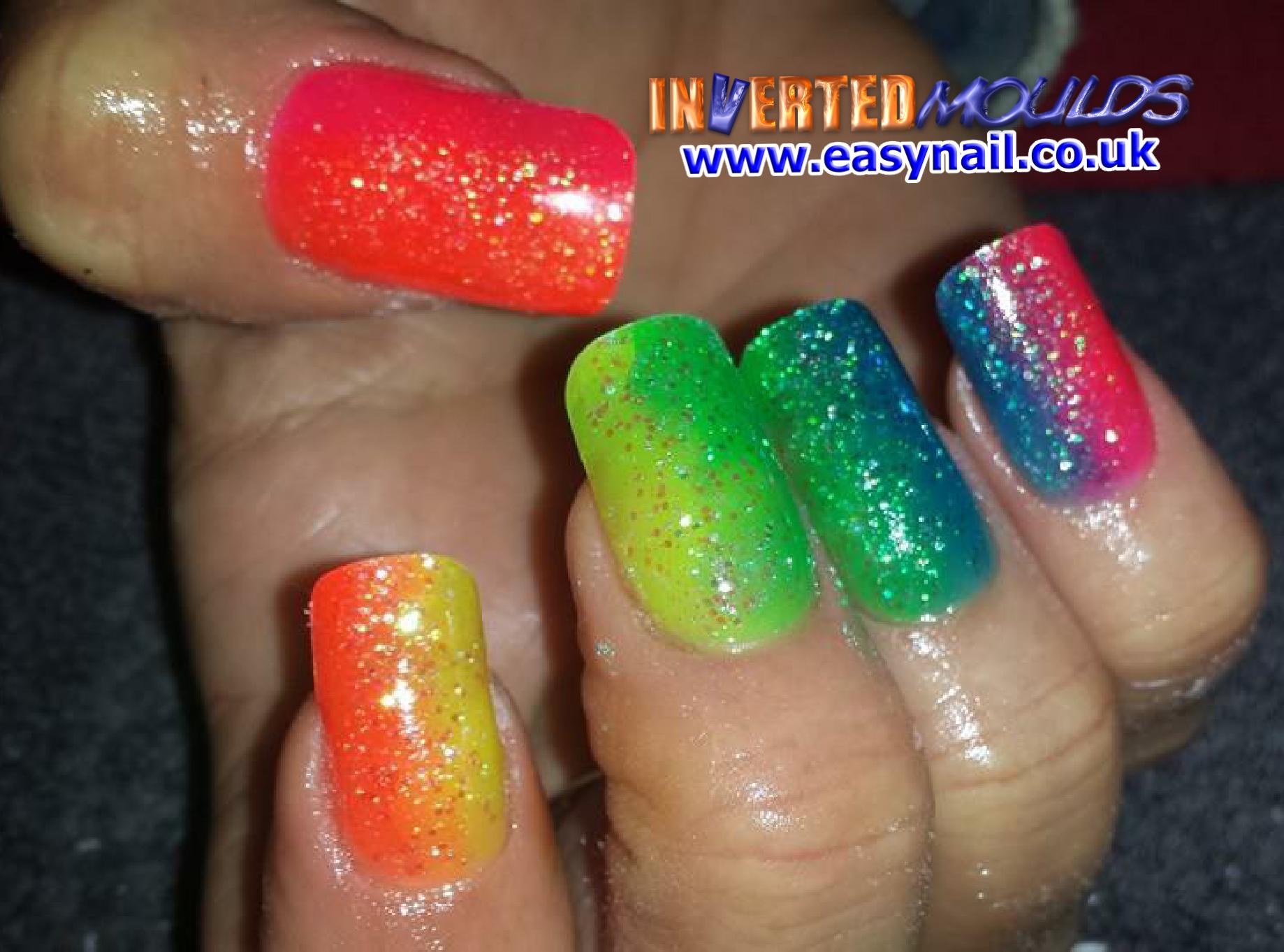 Sideways neon glitter fades by Cheryl Hammond Cheryls Nails IM\'s ...