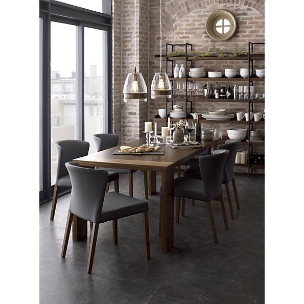 Flynn Dining Table In Dining Tables  Crate And Barrel  Rob's Pleasing Barrel Dining Room Chairs Inspiration Design