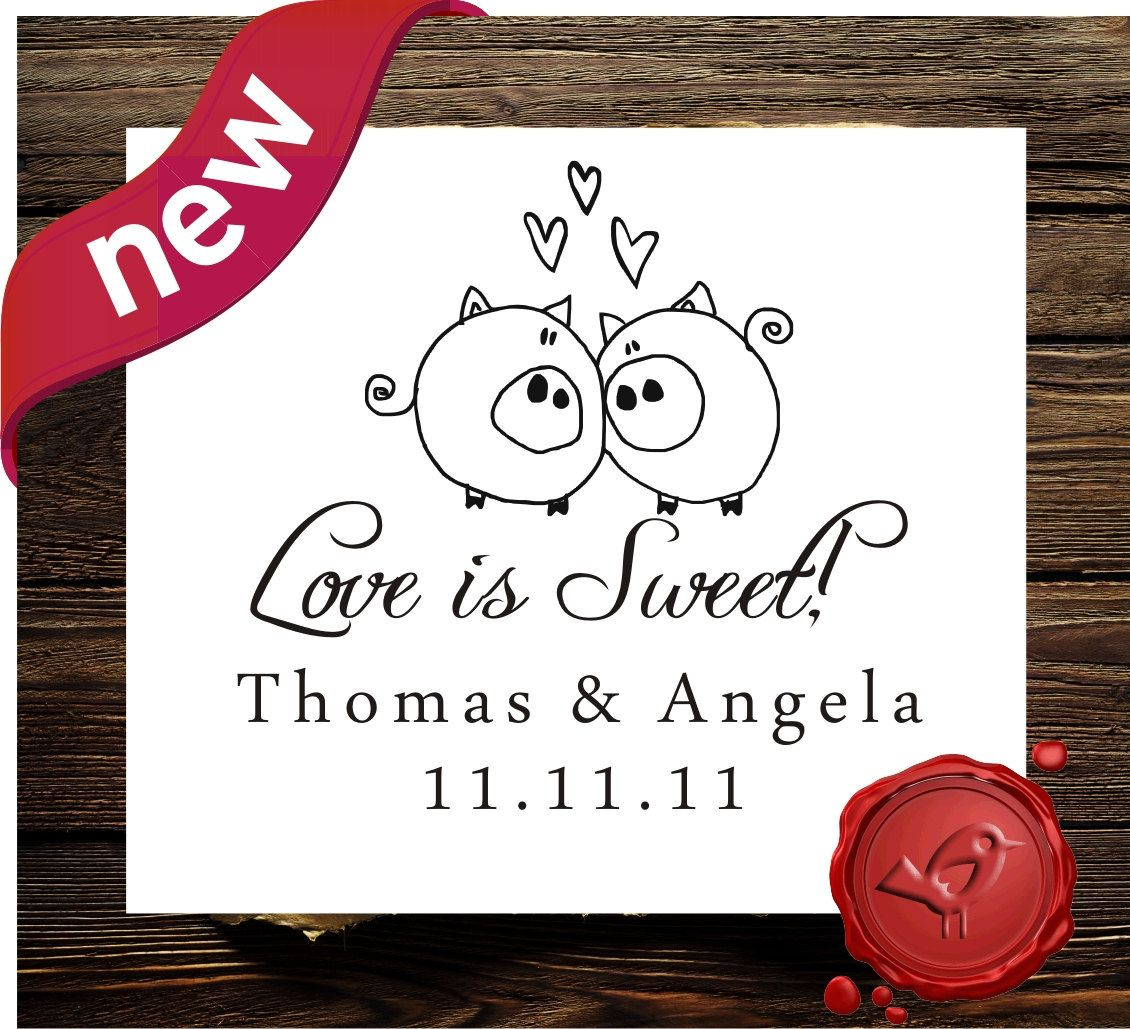 Save the date Wedding Candy Buffet Custom Personalized wood handle ...